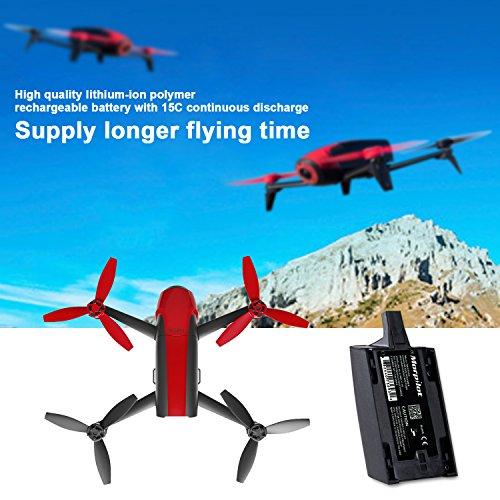 Morpilot® 2 Stück 1700mAh 11,1V Hochleistungsakku Ersatzteile Verlängerte Flugzeiten für Parrot Bebop Drone 1,0 Quadcopter Teile - 4