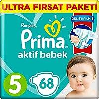 Prima Bebek Bezi Aktif Bebek, 5 Beden, 68 Adet, Ultra Fırsat Paketi