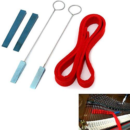 easyshop Pianoforti kit mute temperamento musicale striscia 4 mute di gomma di fissaggio (Mute Set)