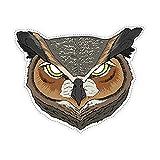 Generique - Eulen-Maske Tier-Accessoire grau-braun-Weiss