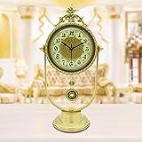 reloj de cobre puro y decoración del alto grada reloj de tabla Reloj de mesa Retro silencioso...