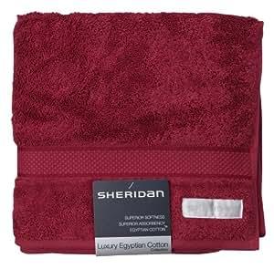 sheridan s1hbta229 50 x 100 cm 1 serviette essuie mains en coton gyptien de luxe rouge carlate. Black Bedroom Furniture Sets. Home Design Ideas