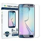 Tech Armor Premium Display-Schutz mit gewölbtem Rand für Samsung Galaxy S6 Edge Samsung Galaxy S6 Edge - HD-Schärfe - 1 Stück