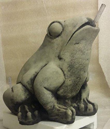 Steinfigur Wasserspeier Frosch mit Pumpe und Schlauch Kröte Brunnen Deko Tierfigur Garten Steinguss Frostfest, noch kein Geschenk