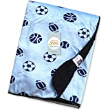 Baby Bucket Double Layer Velvet Fleece Newborn Printed Baby Blanket (VEL 76X102 BASEBALL)