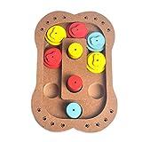 MagiDeal Holz Feeder Spielzeug Strategiespiel für Hunde Schüssel Pädagogische interaktive Hund Spielzeug - Stil 02