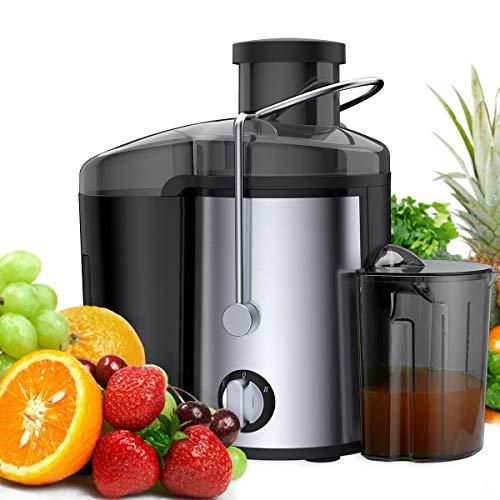 Exprimidor de la máquina, 600W jugo Wide Mouth Extractor Licuadora for el conjunto de frutas y verduras...