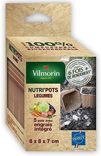 vilmorin-3989997-set-de-5-nutripots-avec-engrais-organique-integre-pour-legumes