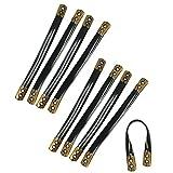 com-four® 9X Mantelaufhänger aus Kunststoff, Schlaufe zum Aufhängen von Jacken und Mäntel, 9,5 cm