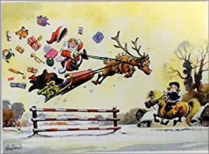 Christmas Card, (Pack of 10) Flying Start by Norman Thelwell