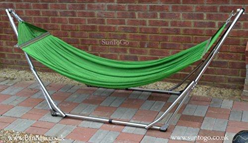 Premium Faltbare Hängematte Stehen, und Garten Outdoor Innen Liege Swing Stuhl Bett (Edelstahl)-Kapazität 180kg (Innen-hängematte Stehen)