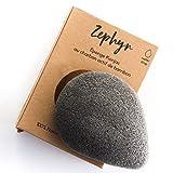 Esponja Konjac Zephyr® para la cara con carbón activo de Bambú - Biodegradable - Origen Corea del Sur