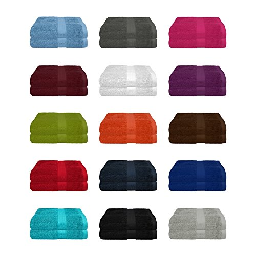 2 tlg. Duschtuch Set in vielen Farben - 2 Duschtücher 70x140 cm - Farbe anthrazit