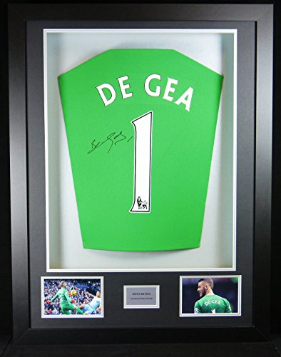 David De Gea Manchester United Signed Shirt 3D Framed Display with COA