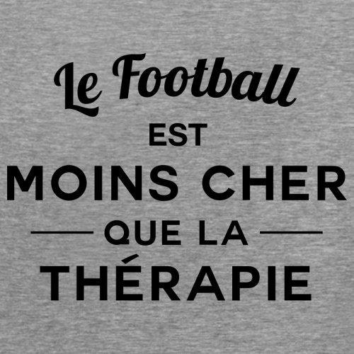 Le football est moins cher que la thérapie - Femme T-Shirt - 14 couleur Gris