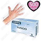 500 Guantes de un solo uso transparentes walking Pe 500