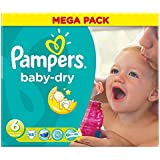 Pampers Baby Sec Taille 6 Extra Large 16 Kg + (68)