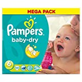 Pampers Baby Dry Taille 6 Extra Large 16 kg + (68) - Paquet de 6