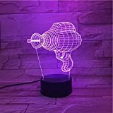 Axiba Électrique perceuse 3D Night Light coloré de contact conduit atmosphère de cadeau visuel lampe lampe