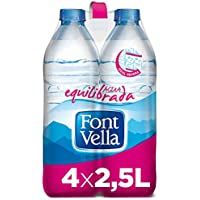 Font Vella Agua Mineral Natural Ideal Nevera - Pack 4 x 2,5 l