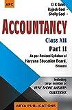 Accountancy Part-II, Class-XII (Haryana)