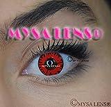 Mysa Lens Lenti a contatto colorate, per Cosplay, fantasia Occhi Volturi Vampiro Twilight, Rosso, scadenza 12Mesi, senza correzione