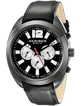Akribos XXIV Herren Analog Display Swiss Quartz Black Watch