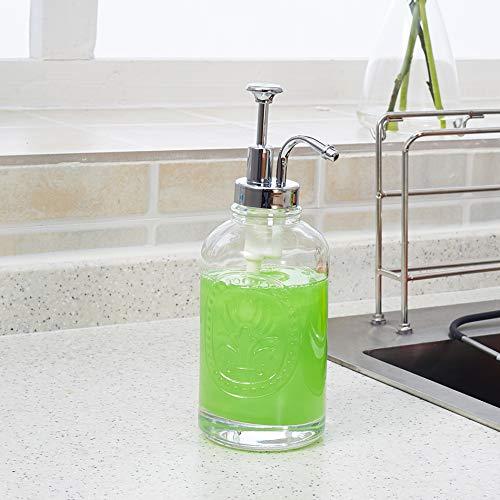 NiNnn Shampoo Body Wash Lotion Flasche Transparente Glasshampoo Handdesinfektionsmittel Flasche Dusche Flüssigkeit Tau Flasche Lotion Flasche Seife Flasche Druck Mund Unterflasche, B-Abschnitt-Druck