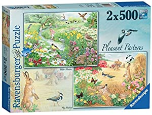 Ravensburger Agradable prados, 2 x 500pc Jigsaw Puzzle