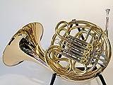 Original Wester Symphonie Bosque/trompa doble Cuerno js1080en F/B, Oro, Latón, Con maletín rígido de lujo y accesorios, Nuevo
