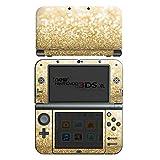 Nintendo New 3DS XL Case Skin Sticker aus Vinyl-Folie Aufkleber Glitzer Look Staub Gold