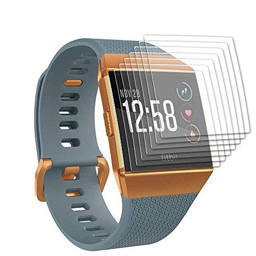 Fitbit Ionic Bildschirmschutzfolie [7Stück], ucmda Full Deckung [no-peeling aus] HD Klar, einfache Installation TPU Film Display protectorfor für Fitbit Ionic