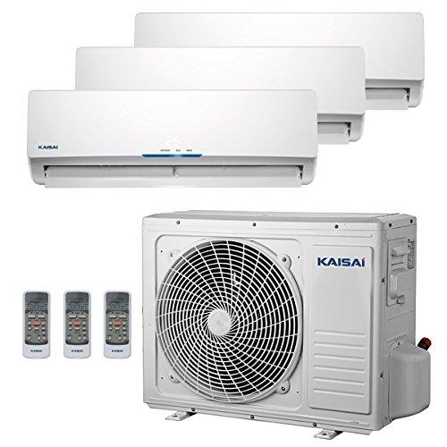 Multi Split Klimaanlage Duo Inverter Klimagerät mit Wärmepumpe Energieklasse A++ / A 28000 BTU 2x 2.6kW 1x 3.5Kw Dual splitgerät Kaisai Focus Wifi