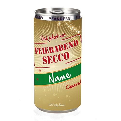 City Secco Feierabend-Secco in der Dose mit Wunschnamen (weiß trocken) 200 ml