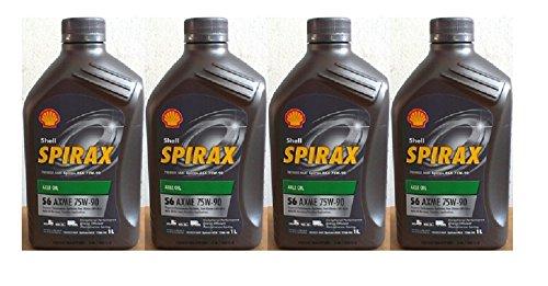 Shell Spirax S6 AXME 75W-90 API GL5 4 barattoli da 1L = 4 Lit