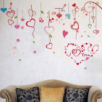 RUIPENGPENG Wall Sticker Aufkleber wasserdicht Abnehmbare für Wohnzimmer Kinder Baby Nursery Aufkleber warmen und vollen Haus Kirschbaum Bett Zimmer Wandschmuck, der Sakura Baumstamm, König -