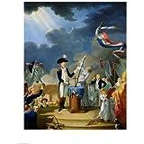 Jacques-Louis David – El juramento de Lafayette en el festival de la Federación Artistica di Stampa (45,72 x 60,96 cm)