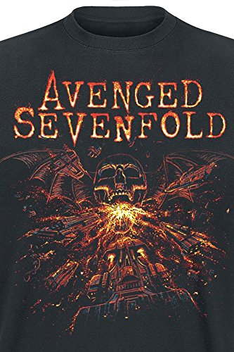 Avenged Sevenfold Deathbat Battle T-Shirt schwarz Schwarz