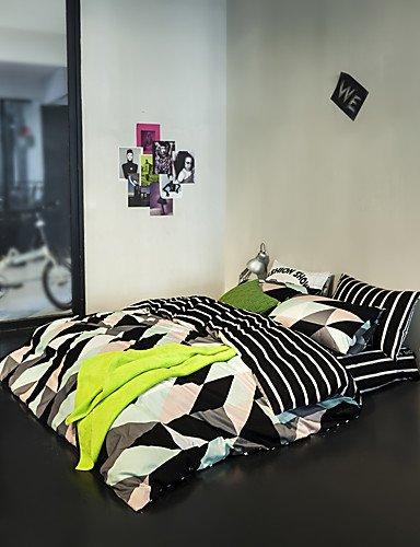 ZHUAN GAOHAIFQ®, vierteilige Anzug,Druckbettbezug setzt 100% Baumwolle Bettwäsche-Set Königin/Doppel/in voller Größe, Queen (Jungen Anzüge Setzt)
