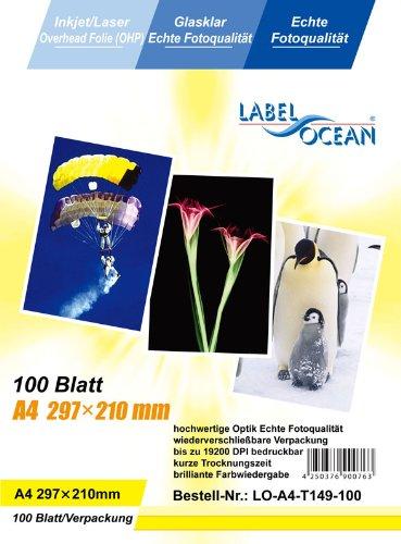 Label Ocean Overheadfolie 100 Blatt A4