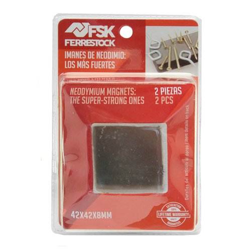 ferrestock fskndr002–Pack von 2Neodym-Magnete Quadrate, Befestigung Extra (42x 42x...