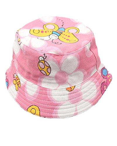 Fletion Blumenmuster Cartoon Kinder Sun Hut Baby Mädchen Jungen Fischerhut Fischermütze Schlapphut Sommer Sonnenhut UV Schutz Kappe