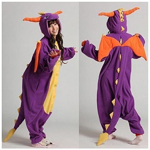 DraghiUnisex-Onesie-Kigurumi-Costume-Costume-felpa-con-cappuccio-pigiama-vestiti-di-notte
