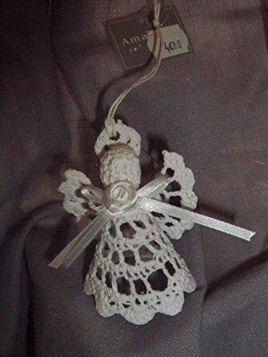 Amadeus - Décoration De Noël en Forme d'ange en Crochet Blanc