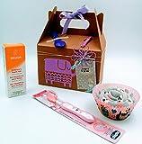 Set di Prodotti Weleda BIO 'Little Girl Birthday Box' | Regalo per Bimbi di 1 anno e 2 anni | Perfetto per Compleanni | Personalizzalo con il Nome e con gli Anni che compie il Bimbo! | Birthday Gift Idea for Kids | Versie Rosa per Femminucce