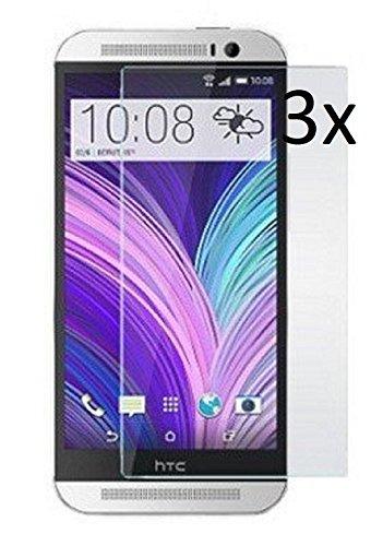Vada-Tec | 3x bruchsicheres Panzerglas für HTC One M8 | Schutzfolie aus 9H Echtglas | Schutzglas zur Vermeidung von Displayschaden | blasenfreie Anbringung | 3 Stück