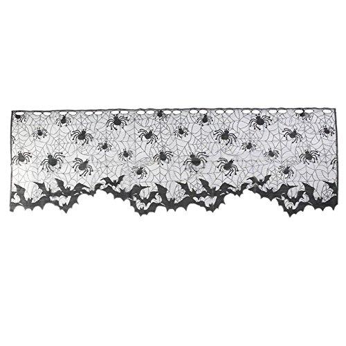 (Macxy - 60 * 20inch 1 PC Halloween-Dekoration Reizende Spitze Spiderweb Kamin-Mantel-Schal-Abdeckung Vorhänge Jalousien Festliche Party Supplies [A1 2pc])