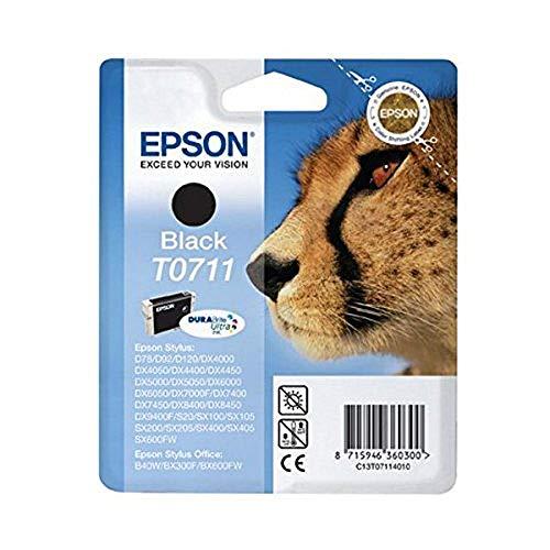 Epson Original T0711 Tinte Gepard, wisch- und wasserfeste (Singlepack) schwarz - 8400 Schwarz Tinte