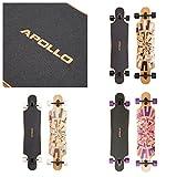 Apollo Twin-Tip Drop-Thru Longboard, Soul Bamboo, Flex 1 - 3, 101,8 cm (40inch) x 24 cm (9,5inch)