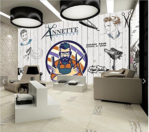 Yosot Custom Tapeten 3D Beauty Salon Elemente Wandbild Für Friseur Wohnzimmer Sofa Hintergrund Home Decor Tapeten-400Cmx280Cm (Salon-elemente)